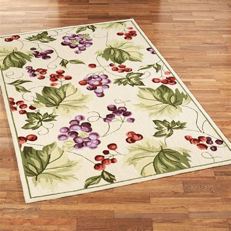 vintage harvest grapes area rugs