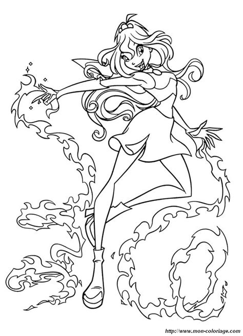 Coloriage De Winx Club Dessin La Magie De Bloom 224 Colorier