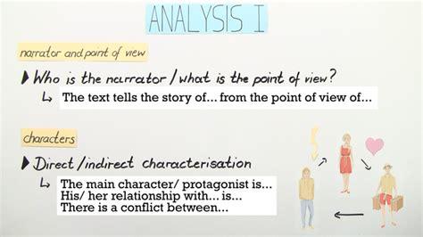 englisch text analysis checkliste uebungen