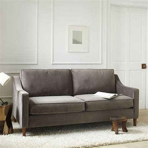 west elm velvet sofa paidge sofa west elm sofa idea for living room many