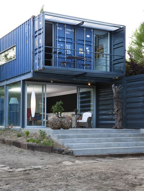 Storage Container Homes Shipping Container Homes Two Story Container House In El Tiemblo Spain