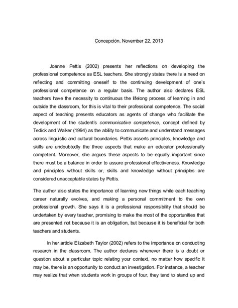 Professionalism Essay by Professional Development Reaction Paper