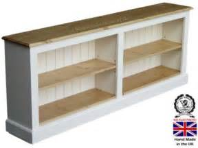solid wood bookcase ft wide white painted waxed