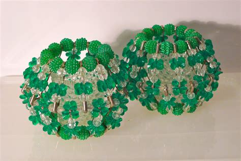 safety pin crafts votive candle holder 2 green beaded safety pin craft folk