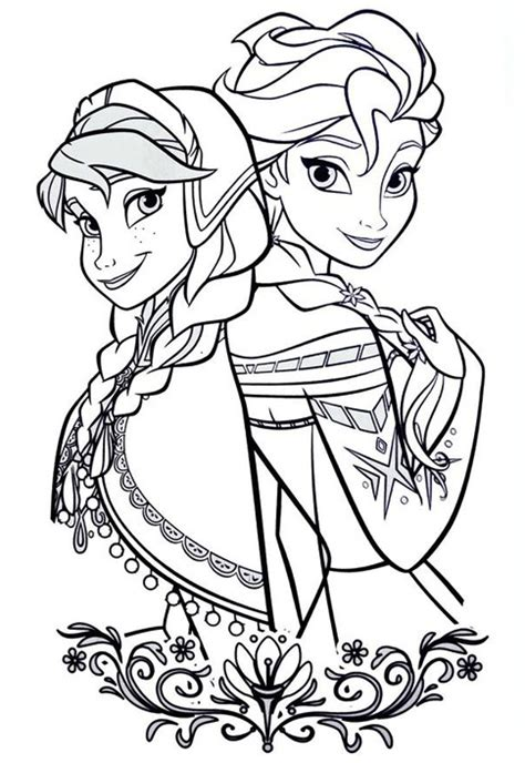 elsa anna coloring pages printable coloringstar
