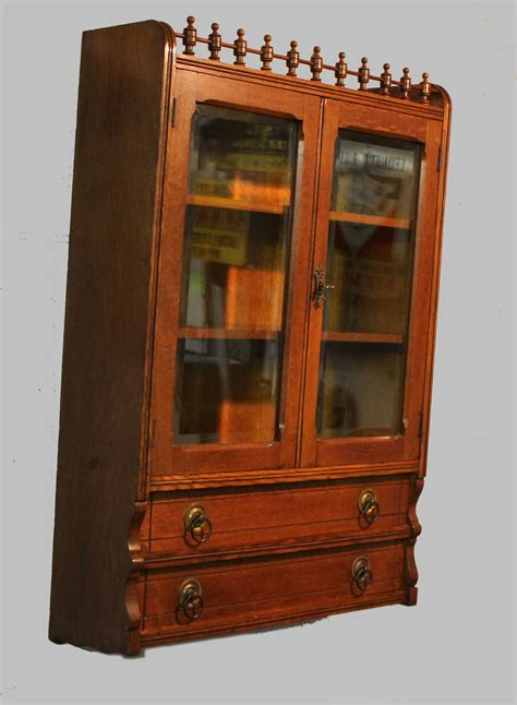 Wall Curio Cabinet Glass Doors by Bargain S Antiques 187 Archive Antique Oak Wall