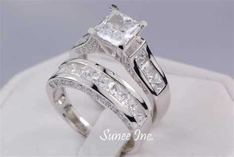 princess cut engagement rings and wedding bands www