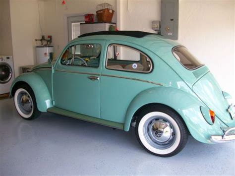 find  classic vw  beetle deluxe sedan sunroof model  rare turquoise color  fort