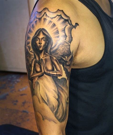 half sleeve angel tattoos for men designs for sleeves hair and tattoos