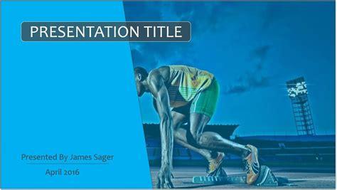 Free Running Powerpoint Template 9261 Sagefox Powerpoint Templates Running Powerpoint Template