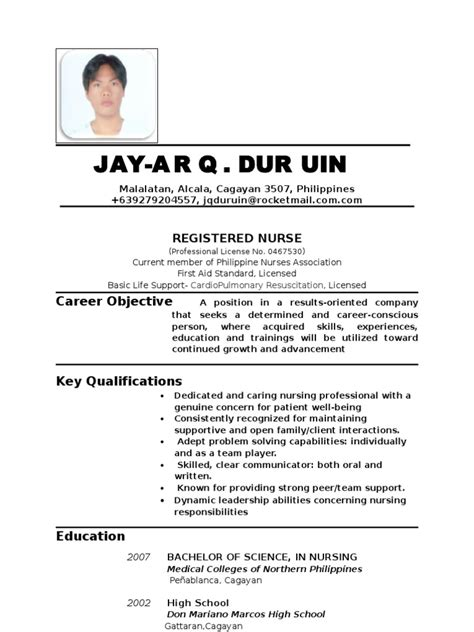 Registered Resume Abroad Resume Updated Abroad