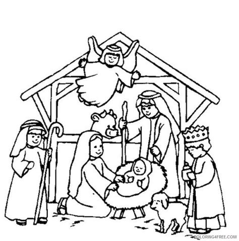 coloring pages of the nativity nativity coloring pages birth of jesus christ