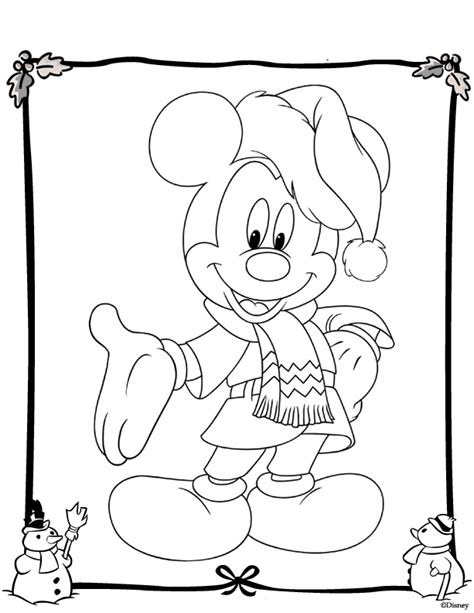 disney winter coloring pages coloring home
