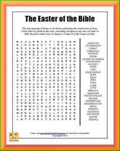 Easter of the bible word search word puzzle hound