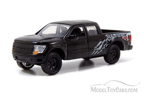 truck car black ford f 150 svt raptor pickup truck black jada toys just