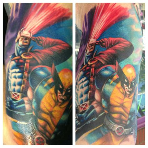 cyclops tattoo cyclops and wolverine marvel s