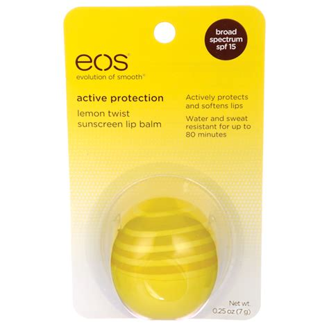 7 Great Lip Balms With Spf For Summer by Eos Sunscreen Lip Balm Lemon Twist 0 25 Oz 7 Grams