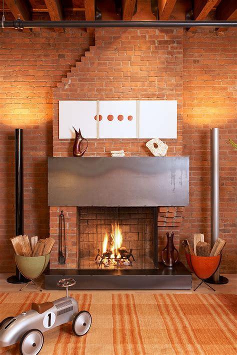 cheminee brique metal picslovin