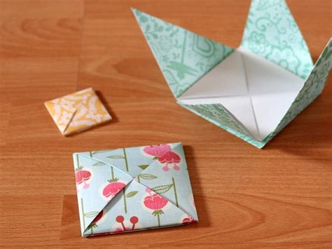Folded Square Origami Paper - beautiful origami envelope folding and