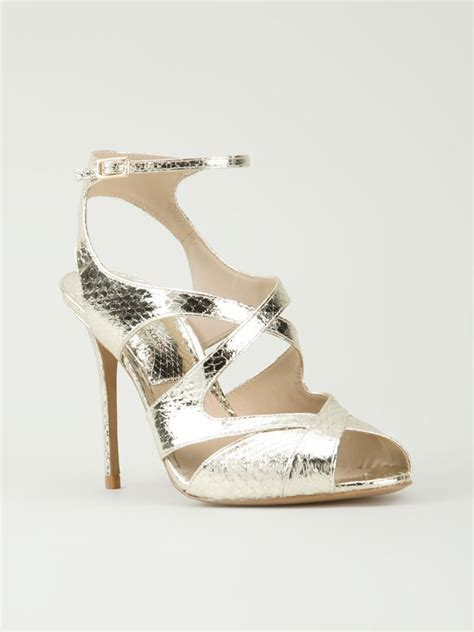 michael kors shoes kors by michael kors cordelia sandals in gold metallic