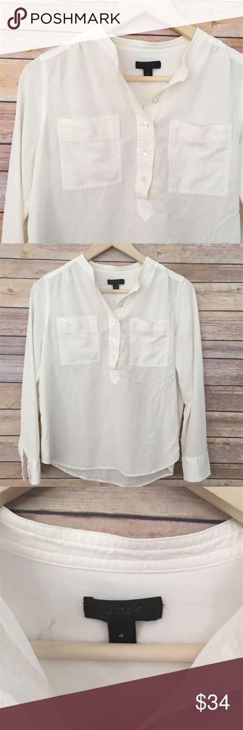 V Neck Basic Blouse White Neumor best 25 white v necks ideas on v neck dress