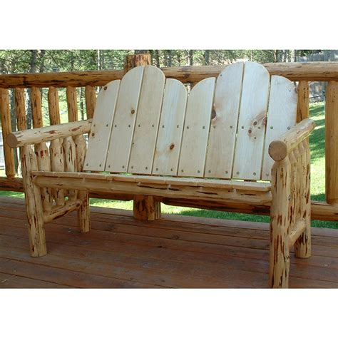 Log Patio Furniture by Montana Woodworks Log Glider Unfinished 140607 Patio