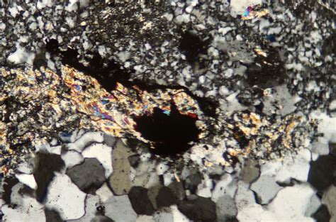 sericite in thin section sericite in cheviot rocks