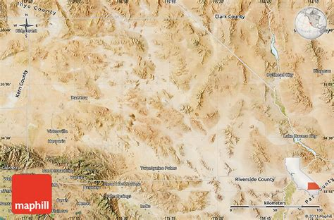 San Bernardino County Free Records Satellite Map Of San Bernardino County