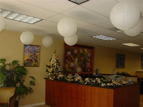 christmas decoration in an office setting switch on your spirit now with meiji items