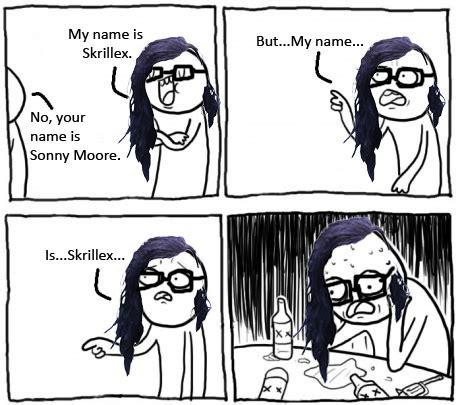 Skrillex Meme - my name is skrillex meme by fueledbychemicals on deviantart