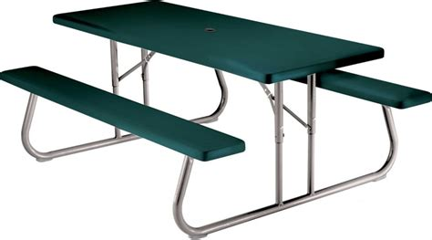 lifetime 6 ft folding picnic table with benches lifetime 22123 6 foot folding picnic table bench in green
