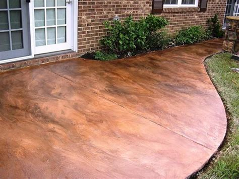 diy how to acid stain a concrete patio acid stain