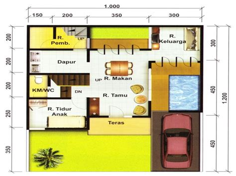 denah ruang makan sederhana konsep desain rumah minimalis 2 lantai beserta denahnya