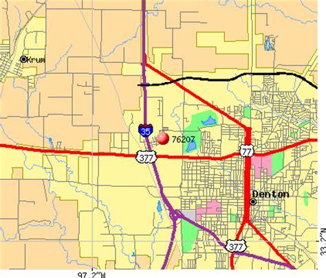 denton texas zip code map zip code denton texas map