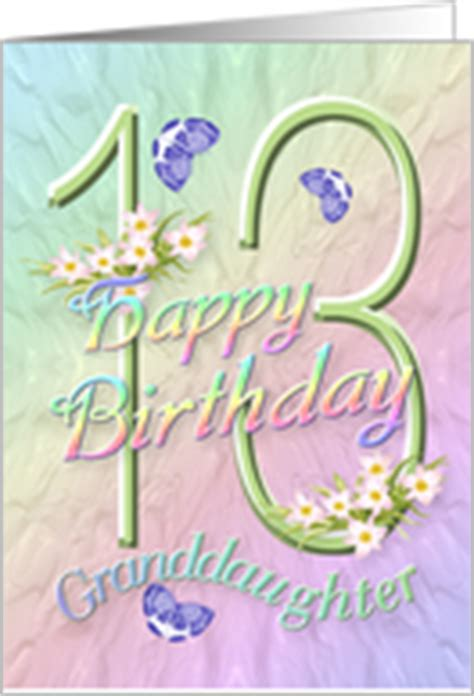 13th Birthday Cards For Granddaughter