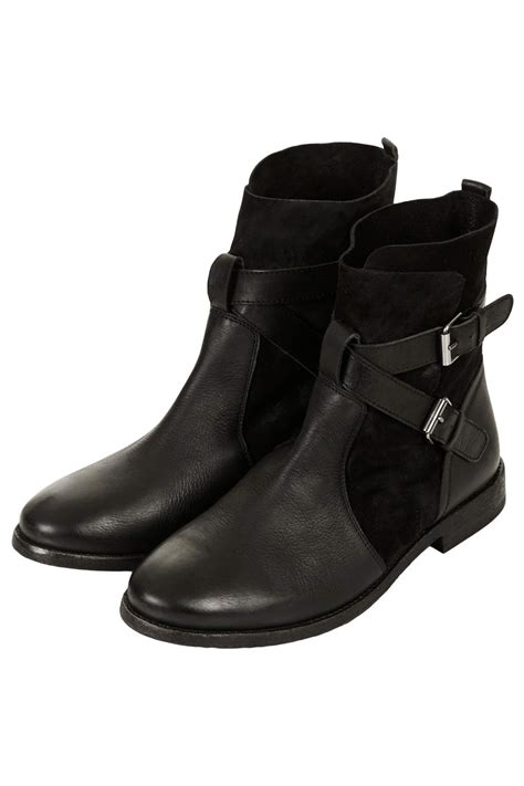 topshop aye pirate ankle boots in black lyst