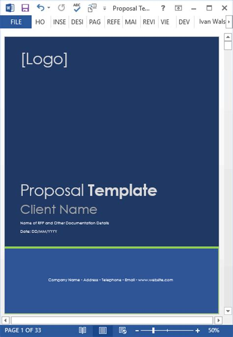 Proposal Templates 10 X Ms Word Designs 2 X Excel Spreadsheets Professional Templates Microsoft Word
