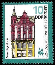 haus der briefmarke leipziger fr 252 hjahrsmesse 1979 max klinger haus