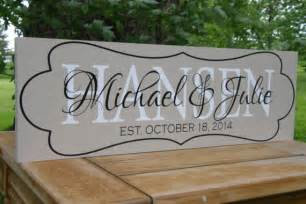 unique monogrammed wedding gifts items similar to personalized gifts unique wedding gifts established family name sign