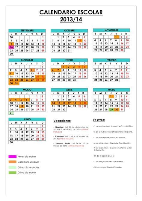 calendario escolar 2013 14