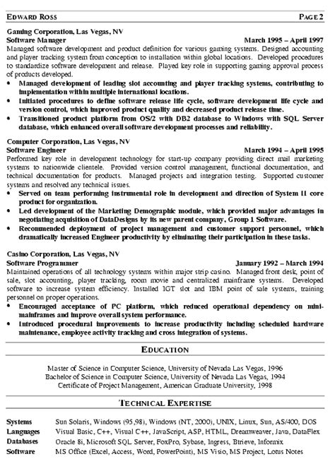 director of it resume exle