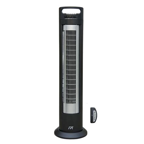 spt 3 in oscillating tower fan with ionizer and remote sf