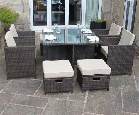 rattan garden furniture cube dining set exclusive 9