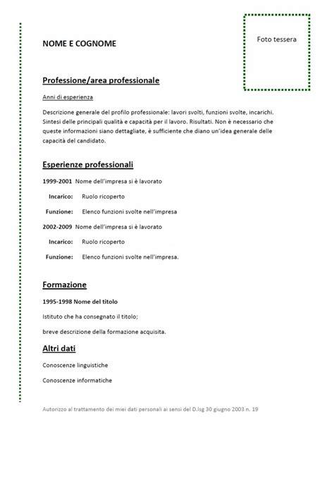 modello curriculum vitae da compilare curriculum vitae funzionale modello 01 modello curriculum