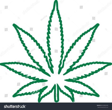 marijuana leaf outline stock vector 402882589 shutterstock