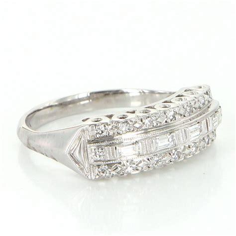 deco vintage ring vintage deco anniversary ring 14 karat white