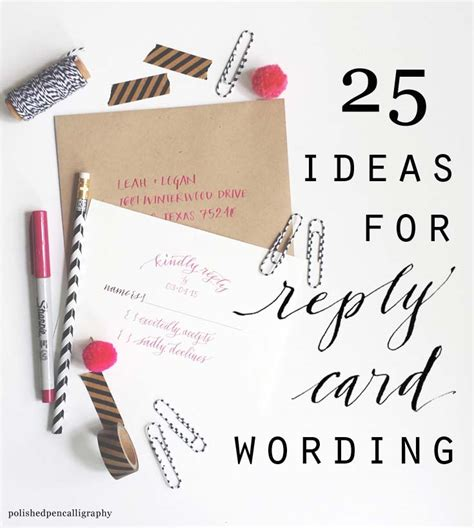 wedding invitation replies reply cards ideas for how to word reply cards