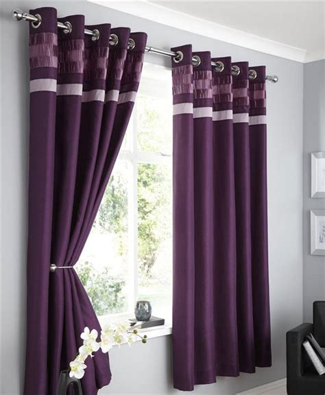 New Faux Silk Lined Curtains Plum Brown Black Or