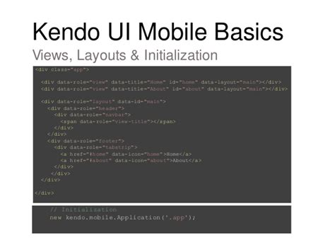 jquery ui layout initialization error telerik kendo ui overview
