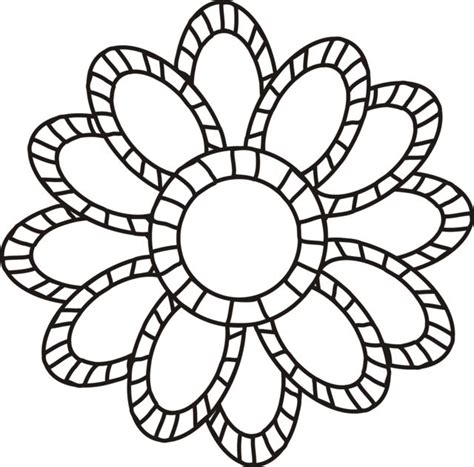 flower color pages large flowers coloring pages to and print for free